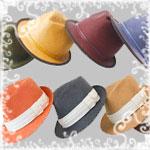Шляпы цветные