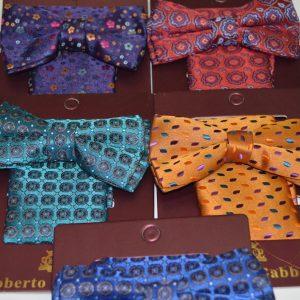 Набор бабочка+платок с рисунками