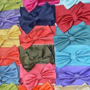 Набор бабочка+платок однотонный