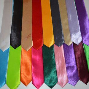 Галстуки глянцевые цветные 5 см.
