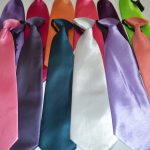 Готовые галстуки однотонные