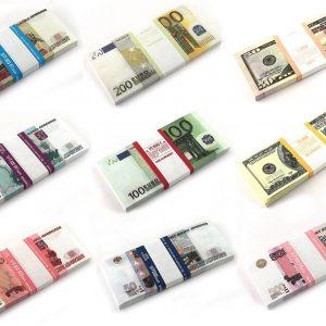 Сувенирные пачки денег,салфетки, хлопушки